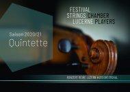 Konzert Reihe Luzern #Zeugheersaal Saison 2020-21