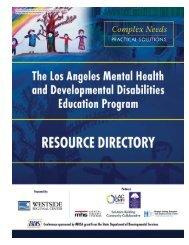 Mental Health & Developmental Disability Resource Directory