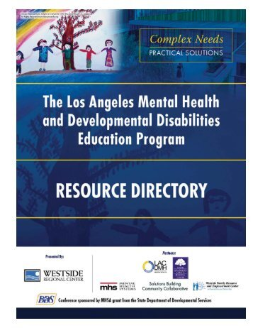 Mental Health & Developmental Disability Resource Directory
