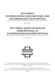 xxvi pärnu international documentary and anthropology film festival ...