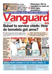 12082020 - Buhari to service chiefs: How do terrorists get arms?