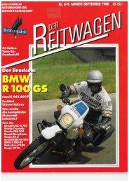 Der Reitwagen August/September 1988 - Motorradreporter