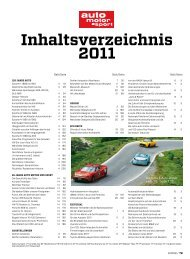 Inhaltsverzeichnis 2011 - Auto Motor und Sport