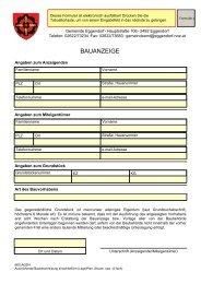 BAUANZEIGE - Gemeinde Eggendorf