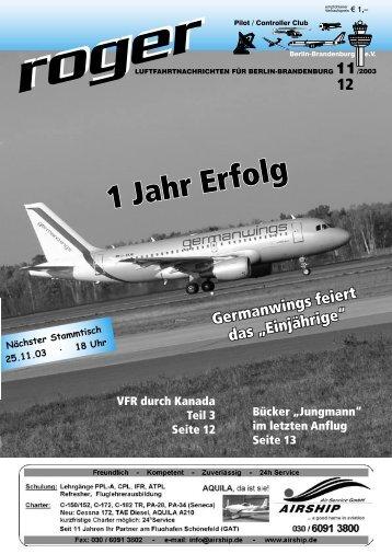 Happy Birthday, Flughafen Tempelhof - Roger - Luftfahrtnachrichten ...