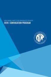 2020 Van Andel Institute Graduate School Convocation Program