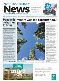 North Canterbury News: August 13, 2020