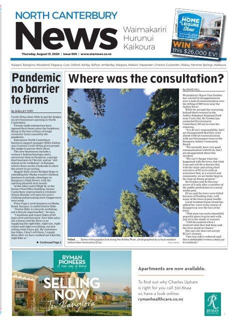 North Canterbury News: August 13, 2020
