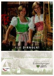DIRNDLN! - Eidenberger Alm