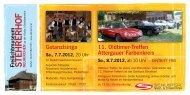 Gstanzlsinga 11. Oldtimer-Treffen Attergauer Farbenkreis