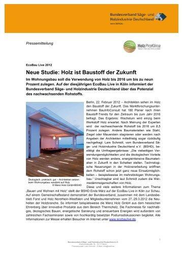 Neue Studie: Holz ist Baustoff der Zukunft - Bundesverband der Säge