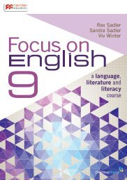 Focus on English 9 Student Book