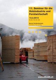 Programm - Hochschule für Architektur, Holz und Bau AHB - Berner ...