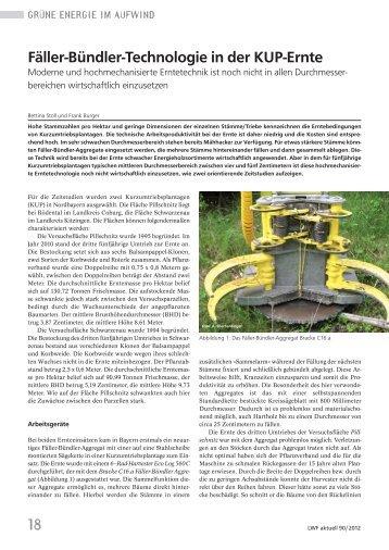 18 Fäller-Bündler-Technologie in der KUP-Ernte - Bayerische ...
