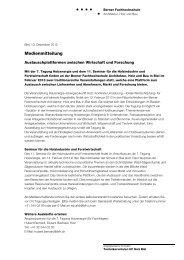 Medienmitteilung - AHB - Berner Fachhochschule
