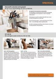 Dämmstoffe schneiden leicht gemacht Mit der ... - Protool GmbH