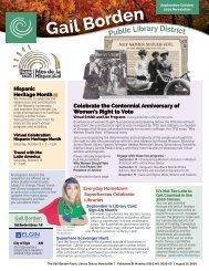 September October Newsletter 2020