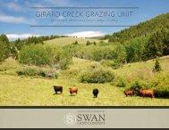 Montana Cattle Ranch For Sale | Girard Creek Grazing Unit