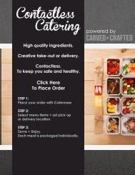 Contactless Catering Menu - Feinberg