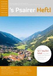 Juni Ausgabe 2020  s'Psairer Heftl - Monatsmagazin für das Passeiertal