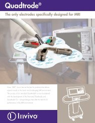 Quadtrode® The only electrodes specifically designed for MRI