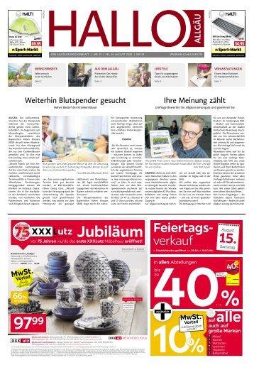 Hallo-Allgäu  vom Freitag, 14.August