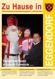 Vorweihnachtszeit in unserer Gemeinde ab ... - Gemeinde Eggendorf