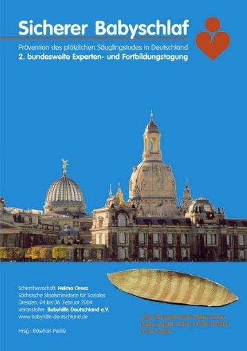 Tagungsband 2005 - Gesunder Babyschlaf - SIDSachsen.de