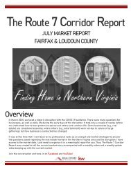 2020-07 -- Real Estate of Northern Virginia - The Route 7 Corridor Report - July 2020 - Real Estate Market Trends - Michele Hudnall