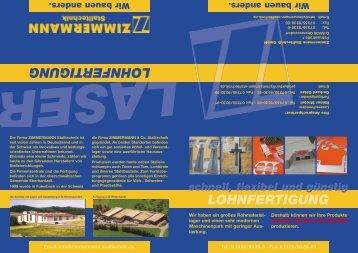 Lohnfertigung - Zimmermann Stalltechnik GmbH