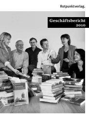 Geschäftsbericht 2010 - Rotpunktverlag