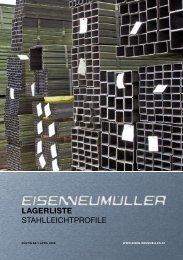 lagerliste Stahlleichtprofile