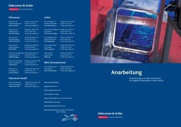 Anarbeitung - Debrunner Acifer