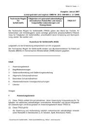 TRGS 517 - Bundesanstalt für Arbeitsschutz und Arbeitsmedizin
