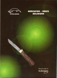 OTTER - MESSER & MERCATOR-knife Rainer Morsbach Solingen ...