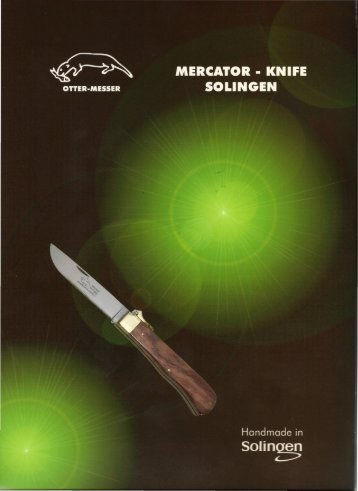 OTTER - MESSER & MERCATOR-knife Rainer Morsbach Solingen ...