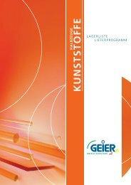 Kunststoff-Rundstangen - Geier Metall- und Stahlhandel GmbH