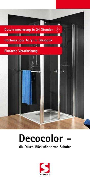 Decocolor - die Dusch-Rückwände von Schulte - Duschmeister.de