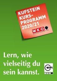 WIFI Kufstein Kursprogramm 2020/21