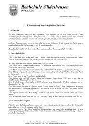 1. Elternbrief des Schuljahres 2009/10 - Realschule Wildeshausen