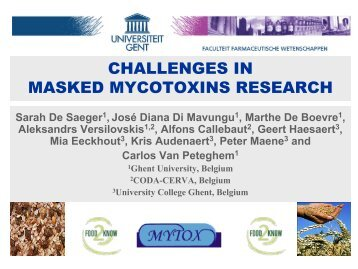 challenges in masked mycotoxins research - International Life ...