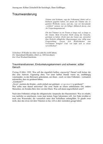 Traumwanderung - story dealer berlin