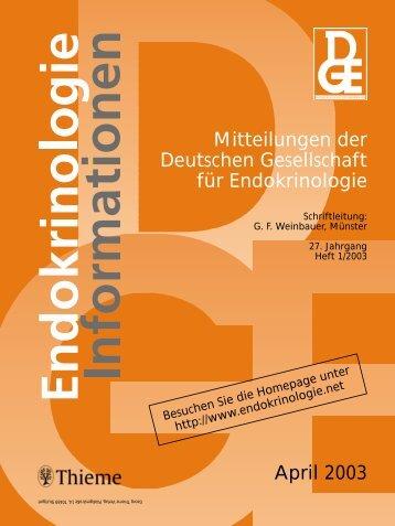 Endokrinologie Informationen - Deutsche Gesellschaft für ...