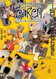 Ausgabe 2006/07 Mai - bei den Appenzeller Bären
