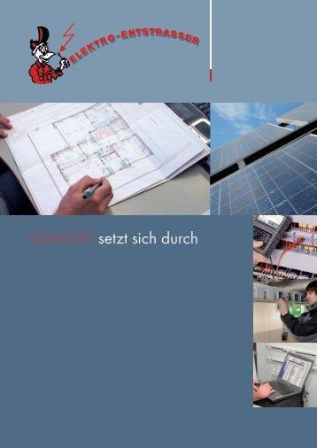 Imagebroschüre - Elektro Entstrasser