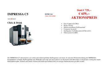 impressa f50 f5 f505 bedienungsanleitung arco elektro gmbh. Black Bedroom Furniture Sets. Home Design Ideas