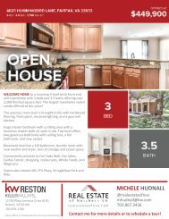 2020-0816 - OH - Fairfax Virginia - Townhouse - CONDO - 4625 Hummingbird Lane - Brochure - Northern Virginia Real Estate - Michele Hudnall