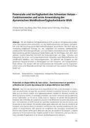 Potenziale und Verfügbarkeit des Schweizer Holzes ...