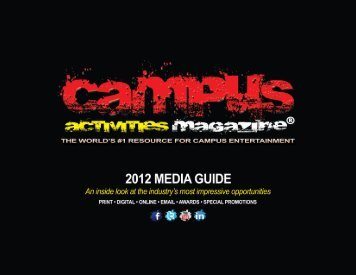 Media Kit for Advertisers PDF Download - Campus Activities Magazine