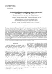 Antibiotic Sensitivity and Sequence Amplification Patterns of Genes ...